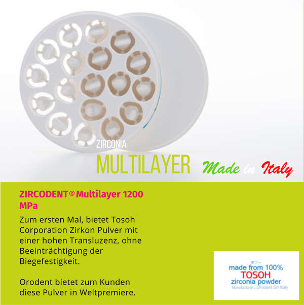ZIRKODENT®  Multilayer  1200 MPa